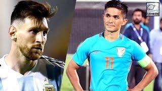 Sunil Chhetri Scores Twice To Equal Lionel Messi