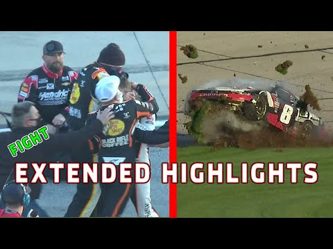 Noah Gragson and Daniel Hemric Fight Josh Berry s car destroyed Xfinity Series Extended Highlights
