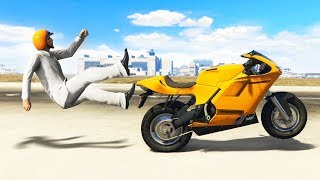 KICKED OFF THE BIKE AT 300MPH! (Gta 5 Funny Moments)