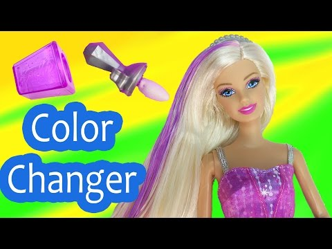 Barbie Color Change Makeup Color Me Glam Hair Frozen Ice Water Changer Fashion Style Doll