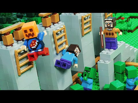 Lego Minecraft NOOB vs PRO vs HACKER vs GOD PARKOUR Challenge