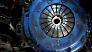 A worn out clutch and throw out bearing in pieces, only a month old