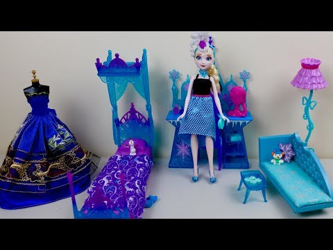 Xxx Mp4 Disney Frozen Barbie Princess Bedroom Queen Elsa Evening Morning Routine Play Dollhouse Toys 3gp Sex