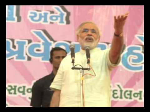 (Gujarati) Narendra Modi's motivating speech on school enrollment occasion at Jambla