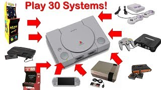 Play 30+ Retro Systems on The Playstation Classic - NES, PSP, Super Nintendo, Genesis, and more