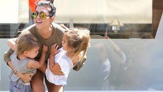 Kourtney Kardashian Gets Lunch With Scott And The Kids  Pt 2