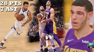 Lonzo Ball VS Steph Curry INTENSE OVERTIME THRILLER! Lakers vs Warriors!