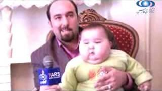 Fat Iranian boy kid, baby born 3kg, child 20kg at 7 months!