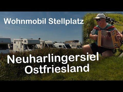 Ostfriesland Wohnmobil Stellplatz Neuharlingersiel und kleiner Rundgang um den Hafen