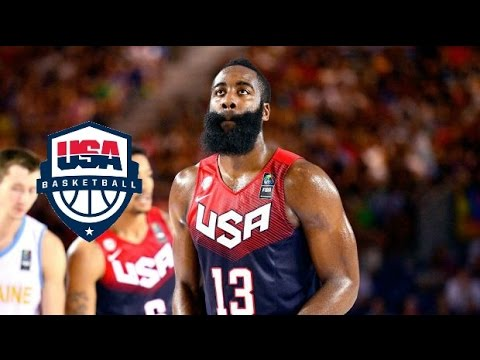 James Harden Team USA Full Highlights vs Ukraine 2014.9.4 - 17 Pts, 5 Asts - Just Playing Around!