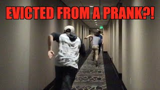 PRANK GETS ME EVICTED!? - Public Prank