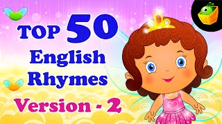 Top 50 Hit Songs Version 2 For Kids - Compilation of Best Children English Nursery Rhymes