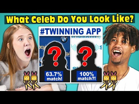 Teens Try To Find Their Celebrity Twin TWINNING APP