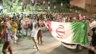 WORLD CUP - IRANIAN FANS CHEER ON TEAM