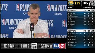 Billy Donovan postgame reaction | Thunder vs Blazers Game 4 | 2019 NBA Playoffs