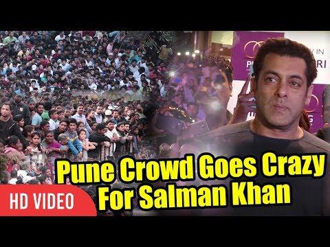 Xxx Mp4 Pune Crowd Goes Crazy For Salman Khan UNCONTROLLABLE CROWD PNG Jewellers Store Launch 3gp Sex