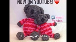 Rainbow Loom Koala Bear (small version) - Loomigurumi - Amigurumi  Hook Only Лумигуруми