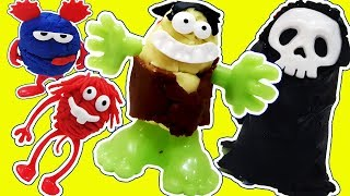 PLAY DOH HULK Smash Skeleton Monsters - MONSTER High De Plastilina de Playdough with Gertit