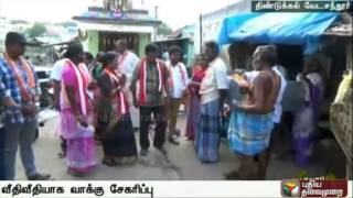 Vedachandur IJK candidate Sivaranjani campaigning across the streets in the constituency