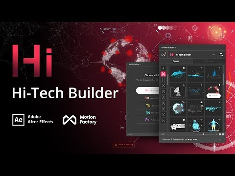 HiTech HUD & Infographic Builder For After Effects | Quantum Pack