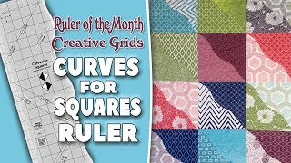 Quilting Ruler of the Month: Curves for Squares Ruler