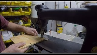 Converting my sewing machine into a jig saw to cut plywood