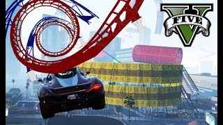 GTA 5 ACHTERBAHNFAHRT (+ DOWNLOAD) ★ GTA 5 Online Custom Map Race | PowrotTV