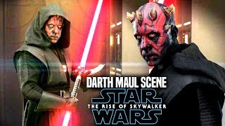 The Rise Of Skywalker Darth Maul HUGE Scene Leaks! (Star Wars Episode 9)