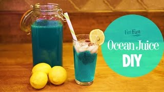 DIY Mermaid Ocean Juice | Blue Raspberry Lemonade | Fin Fun Mermaid Tails