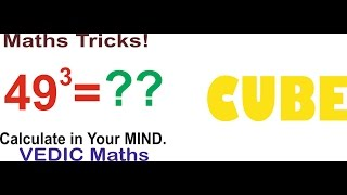 CUBE of any number in 30 seconds..Fast Maths (VEDIC MATHS)