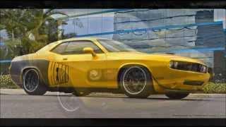 Golden Buddha Cuda   - Custom 2009 Dodge Challenger