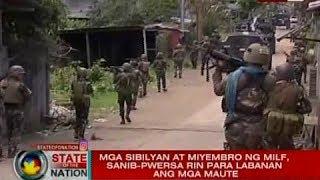 SONA: MILF, tumutulong na rin na labanan ang Maute group sa Marawi City