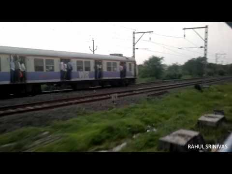 Flying Ranee Express Brutally Overtakes Local Train!