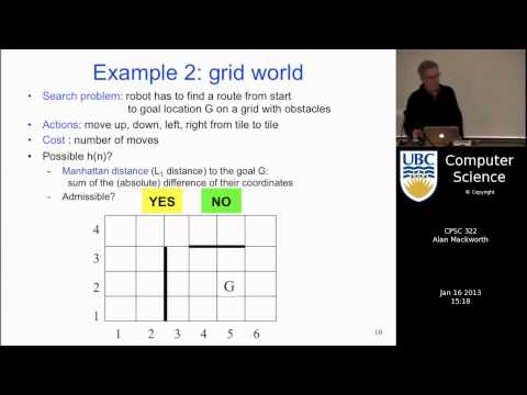 Lecture 7 - Search 4: Heuristic Search: A*