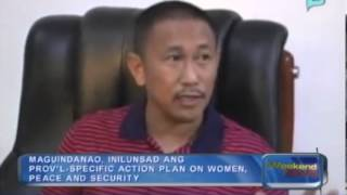 Maguindanao, inilunsad ang prov'l-specific action plan on women, peace and security.