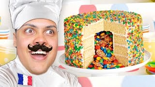 HOW TO MAKE A CAKE! 🎂 - Cooking With Chef MessYourself