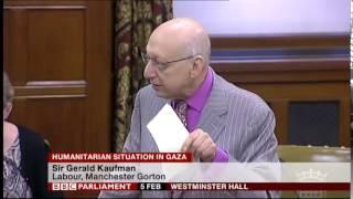 Sir Gerald Kaufman MP Gaza Debate 2014