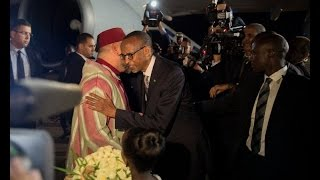His Majesty King of Morroco Mohammed VI arrived in Rwanda for a state visit (18/10/2016)