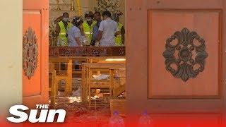 Recovery efforts underway at the St Sebastian Catholic Church in Colombo, Sri Lanka