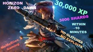 Horizon Zero Dawn | 30,000 Exp | 3000 Shards | Within 10 Mins | No Glitch or Exploit |