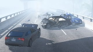 BeamNG Drive - Highway Fog Pileups (Highway Crashes) #7 •ShowMik