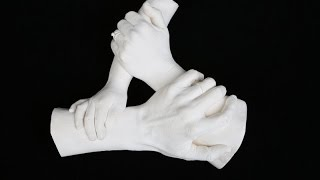 Family Casting - Triangle Hand by Precious Memories based in Poole, Dorset