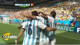 هدف الارجنتين ضد بلجيكا كاس العالم 2014 بتعليق رؤوف خليف HD