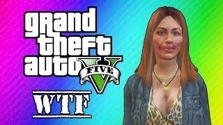 GTA 5 Online: Super Glitchy Lobby - Invincible Lady & Teleportation (GTA 5 Funny Moments)