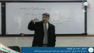 علم النفس التربوي،  المحاضرة السابعة، منحنى التعلم الفردي والجمعي وشروط التعلم