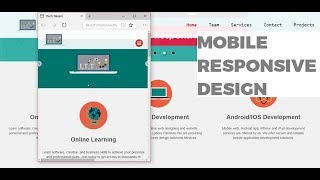 Complete Mobile Responsive Website Design HTML5 CSS3 notepad Urdu/hindi