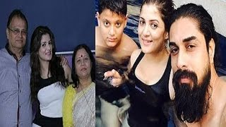 Srabanti Chatterjee Family Album | Actress Srabanti Chatterjee with her Family