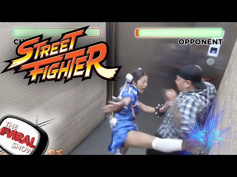 STREET FIGHTER BROMA EN EL ASCENSOR