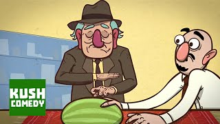 Fruit Flicking Forefather - Maz Jobrani Cartoon: Brown and Friendly