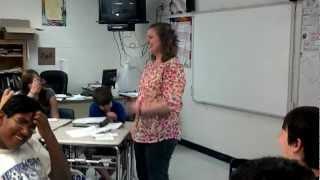 Teacher Rapping During Class